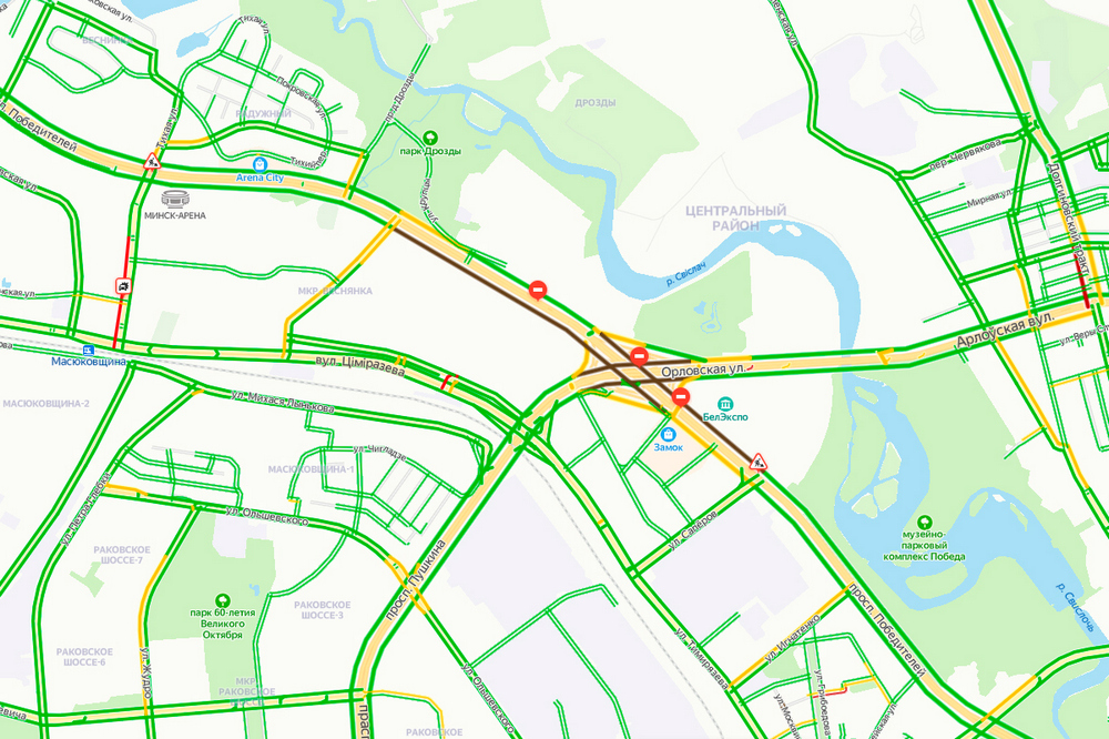 Сегодня в Минске начинается большой ремонт путепровода на развязке ул. Орловская — пр. Победителей