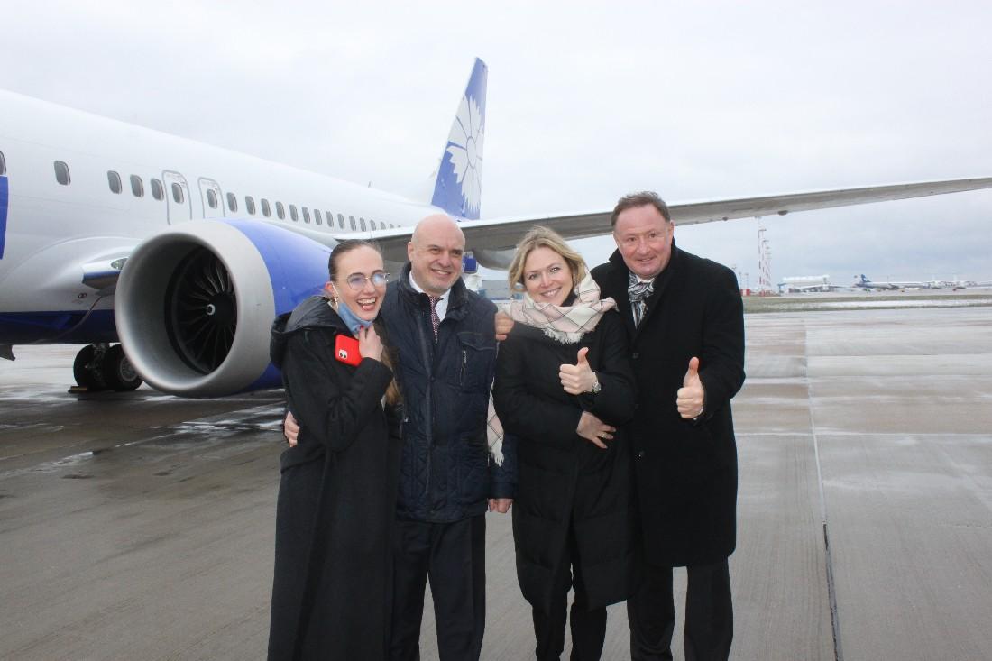 8 апреля флот авиакомпании «Белавиа» пополнил первый самолет Boeing 737-8